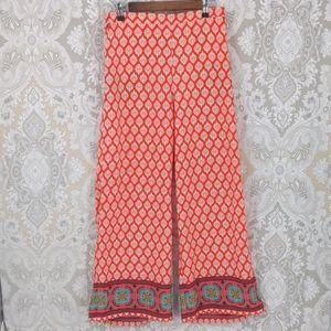 Love Tree red palazzo pants with Paisley cuff